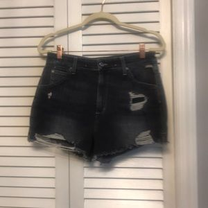 Joes Jeans The Bella distressed black shorts 30